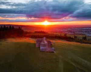 Dublin Sunset - Hellfire Club Dublin Mountains