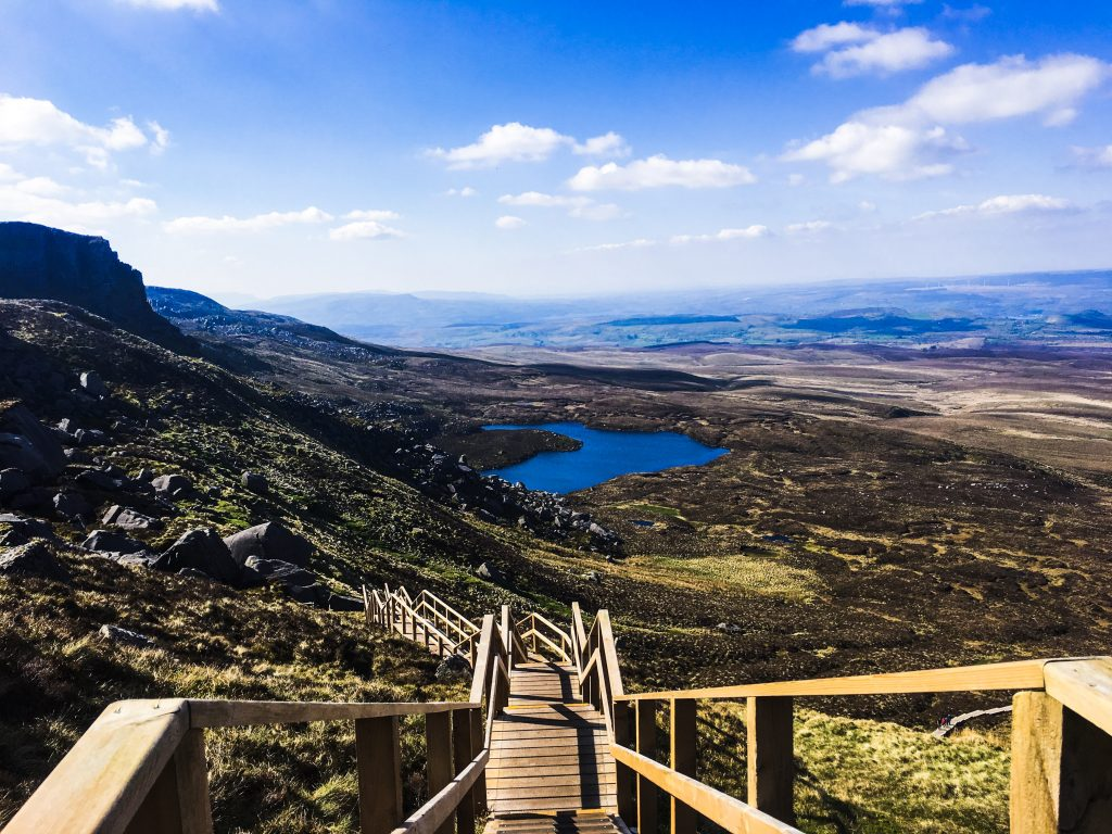 Stairway to Heaven Ireland: A view of the lake, stairway and fermanagh