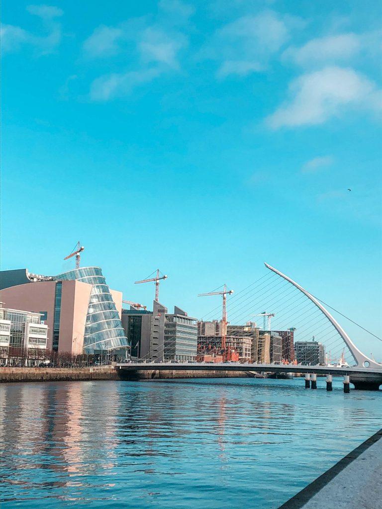 A view of the Samuel Becket Bridge, Dublin, Ireland