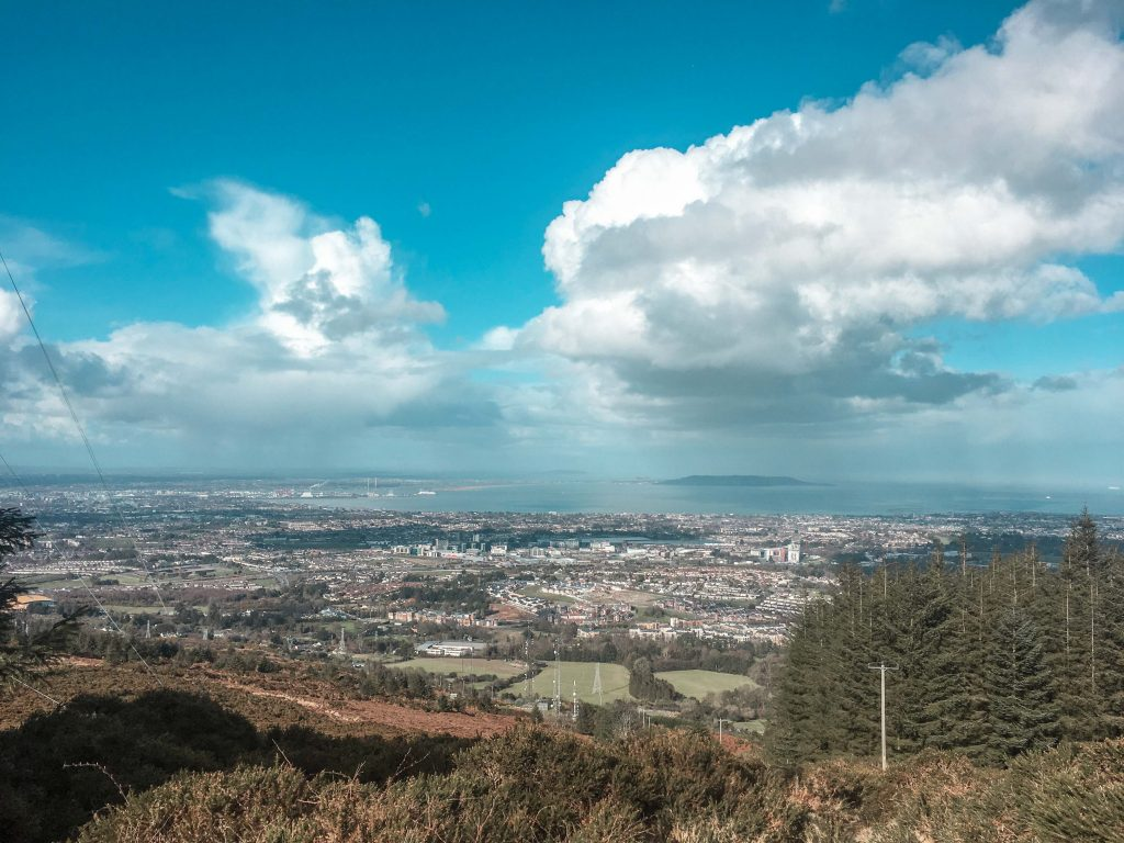 Things to do in Dublin for Free The View of Dublin City from the Ticknock Mountain Trail