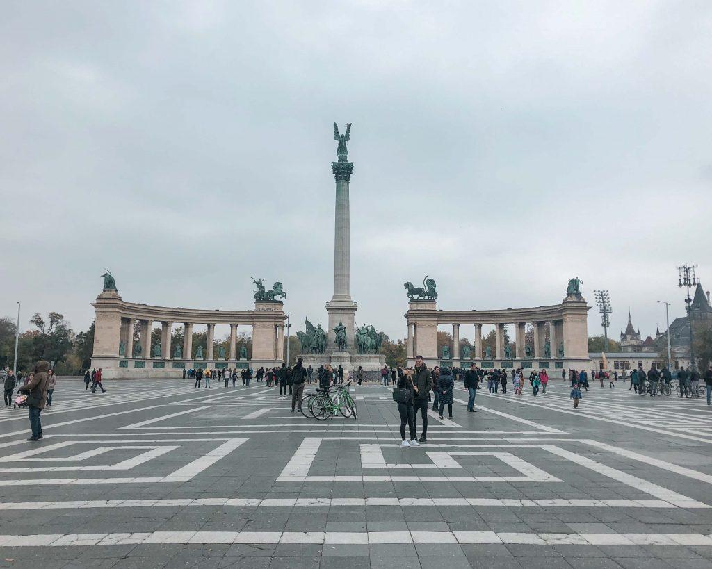 4 Days in Budapest Hero's Square, Budapest, Hungary