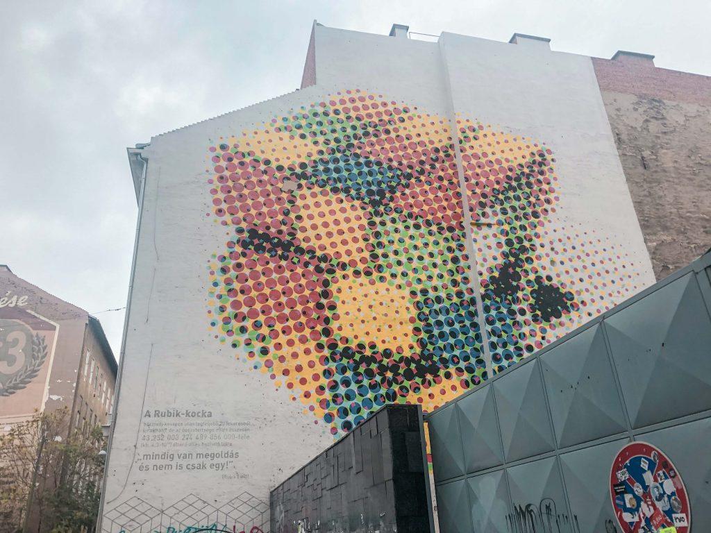 rubik's cube mural budapest
