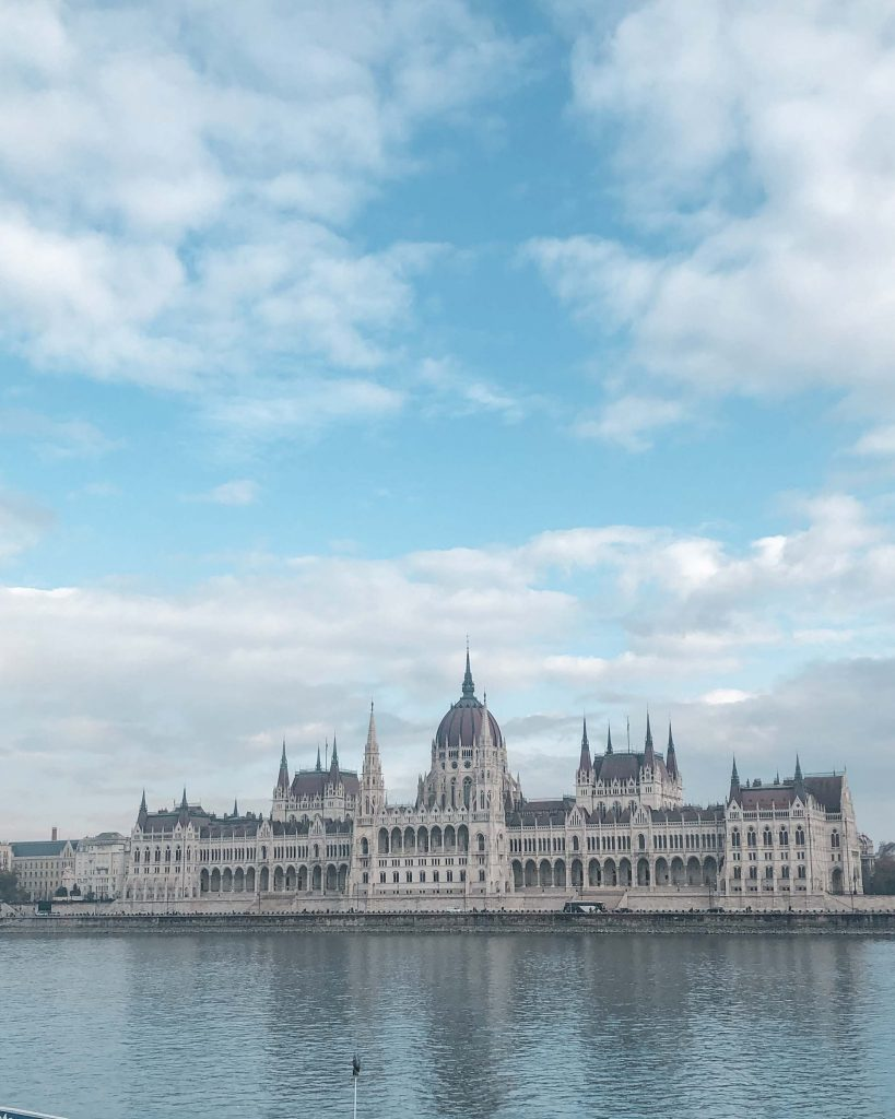 The Budapest Parliament from the Pest side of the city