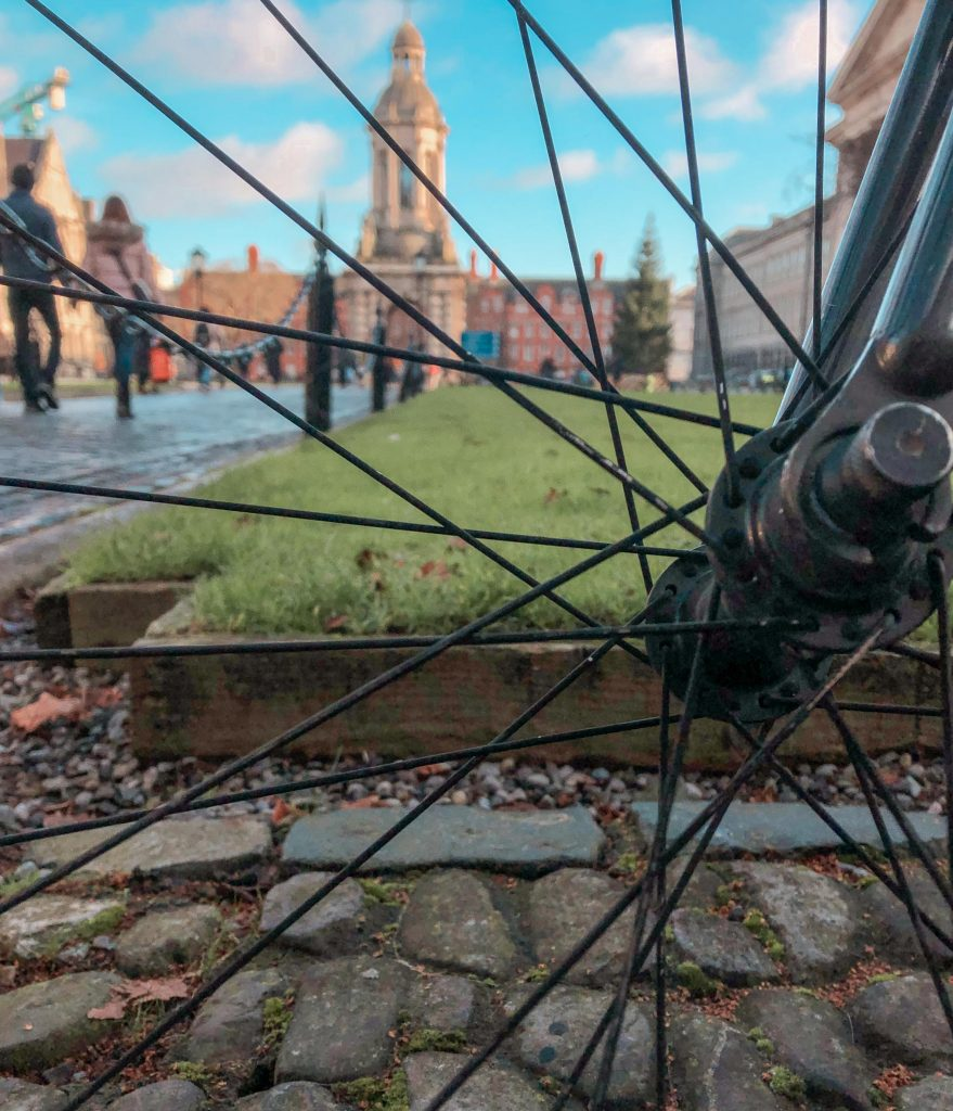 One Day in Dublin Trinity College Dublin Through a Bicycle Wheel
