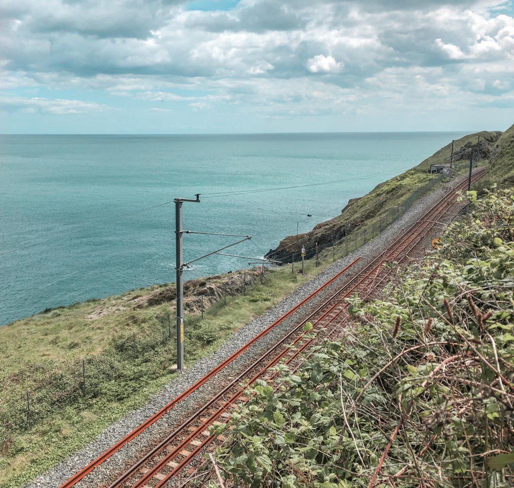 DART Line, on the Bray to Greystones Trail, Wicklow, Ireland