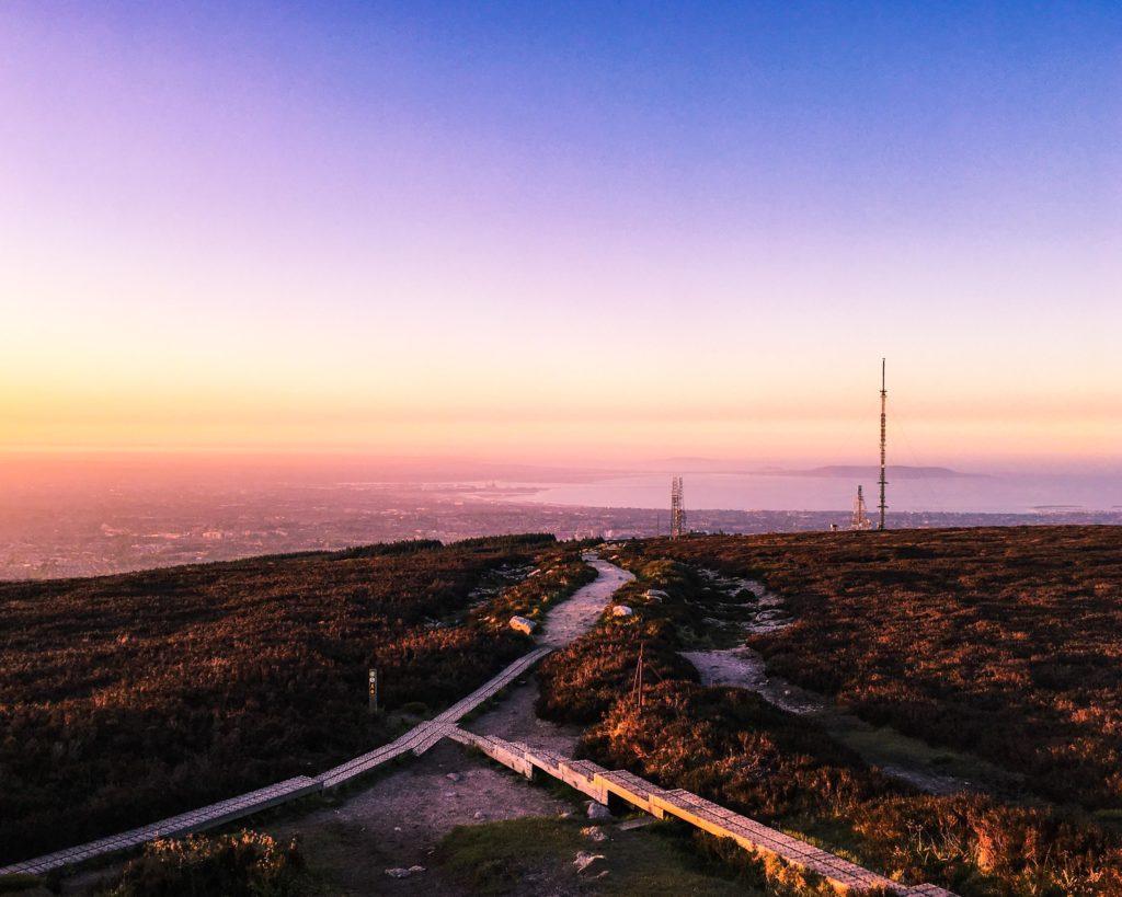Sunset, Tick Nock, Dublin Mountains, Ireland